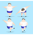 Big man fitness vector image