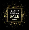 black friday sale design dark background and gold vector image
