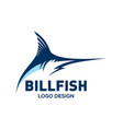blue marlin bill fish logo design template vector image