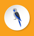 blue rosella parrot icon in flat style vector image vector image