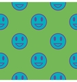 Blue smiley geometric seamless pattern vector image vector image