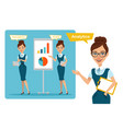 business women characters presentation vector image vector image