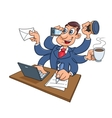 Busy businessman working vector image vector image