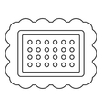 Butter biscui icon outline style vector image