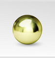 chrome ball realistic isolated on white background vector image vector image