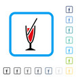 cocktail framed icon vector image vector image