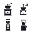 coffee grinder mill icon set simple style vector image vector image
