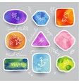 collection colorful watercolor speech and vector image vector image