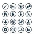 crisis icons universal set vector image vector image