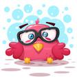 cute bird cartoon characters vector image