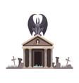 dark evil with spread wings vector image vector image