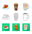 design drink and bar icon set drink vector image vector image