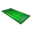 detailed an american football fields vector image vector image