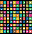 doctor 100 icons universal set for web and ui vector image vector image