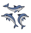 dolphin set vector image