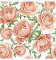 floral watercolor seamless pattern elegant peonies vector image vector image