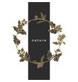 floral wreath coffee design vector image