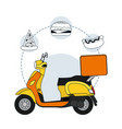 food delivery service vector image