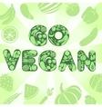 Go vegan poster vector image vector image