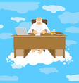 god sitting in office almighty of work place in vector image vector image