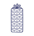 happy birthday gift box ribbon decoration vector image vector image