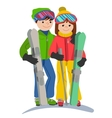 Happy couple of young people man and woman funny vector image vector image