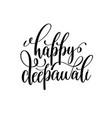 happy deepawali black calligraphy hand lettering vector image vector image
