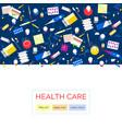 health care medical background medicine insurance vector image