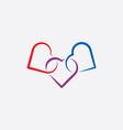 heart link icon symbol vector image vector image