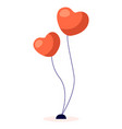 heart shaped helium balloons for celebration event vector image vector image