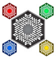 hexagonal logo template in celtic knots style vector image vector image