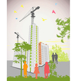 high rise buildings vector image vector image