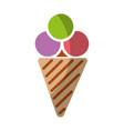 ice cream isolated icon vector image vector image