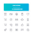 line icons set e-commerce 2 vector image vector image