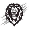 lion head roaring logo mascot vector image vector image