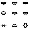 lips icon set vector image
