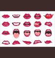 lips patch collection of sexy vector image