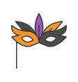 masquerade mask halloween related icon filled vector image