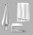 mockup with white cloth towels vector image vector image