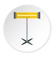 modern bathroom towel dryer icon circle vector image vector image
