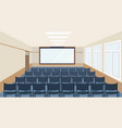 modern meeting conference presentation room vector image