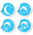 moon icons set vector image vector image