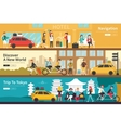 Navigation Discover A New World Trip To Tokyo flat vector image