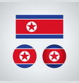 north korean trio flags vector image vector image