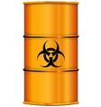Orange barrel with bio hazard sign vector image