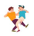 pair fighting children conflict between kids vector image vector image