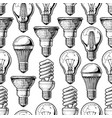 pattern with different lightbulb vector image vector image