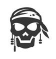 pirate symbol avatar bold black silhouette icon vector image