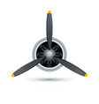 plane blade propeller airplane wood engine vector image