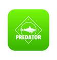 predator ocean icon green vector image vector image